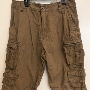 IRON CO. Men's dark khaki cargo shorts
